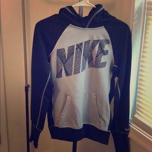 Nike hoodie gray and black xs